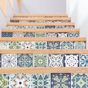 Sada 2 samolepiek na schody Ambiance Cabiria, 15×105 cm