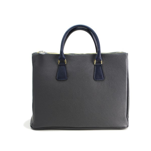Kožená kabelka Pelle Grigio/Navy