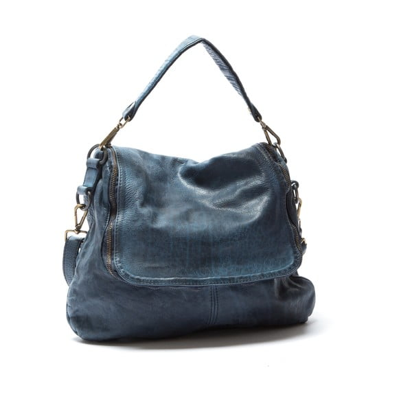 Kožená kabelka Mangotti 0009, modrá