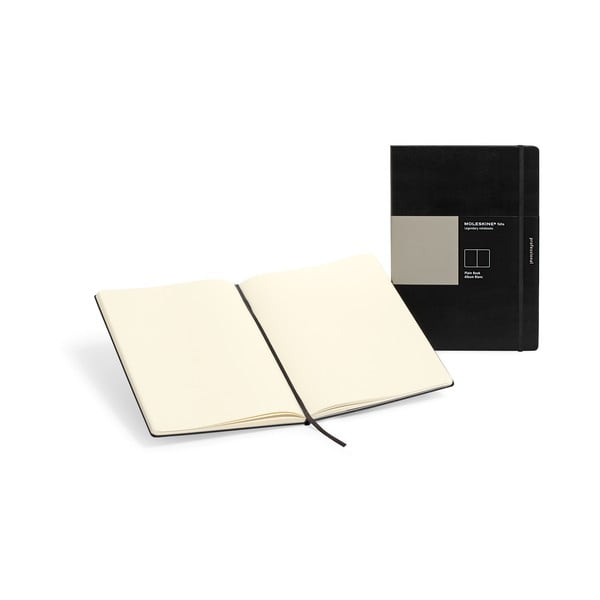 Čierny zápisník Moleskine Folio Book, bezlinajok