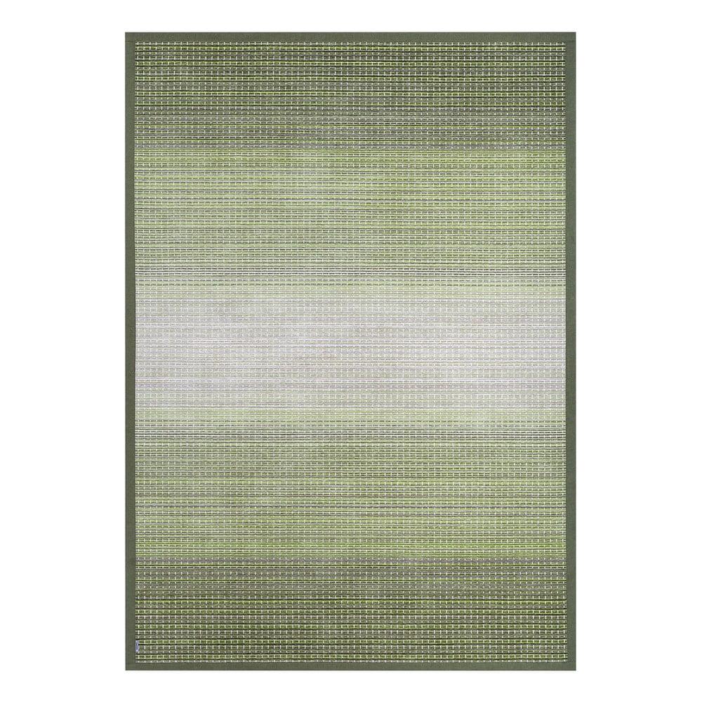 Zelený obojstranný koberec Narma Moka Olive, 80 x 250 cm