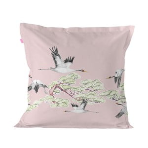 Bavlnená obliečka na vankúš Happy Friday Cushion Cover Cranes, 60 × 60 cm