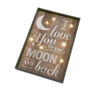 Dekoratívny nápis Heaven Sends Love You to the Moon