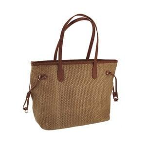 Hnedá kožená kabelka Florence Merga