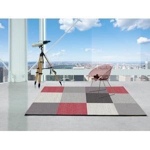 Sivý koberec Universal Menfis Cuadro, 160 × 230 cm