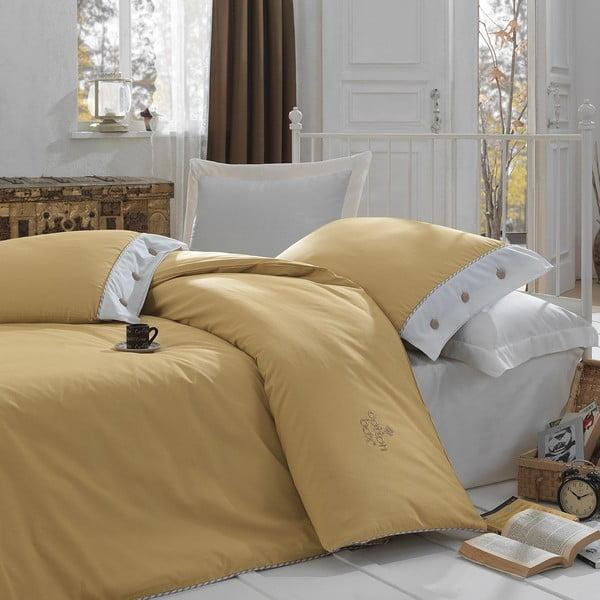 Obliečky s plachtou Caramel Set, 160x220 cm