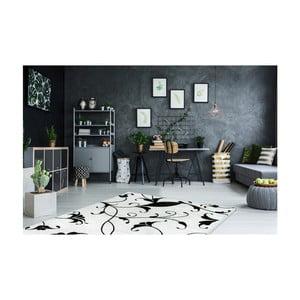 Čierno-biely koberec Obsession My Black & White Baw Whit, 80×150 cm