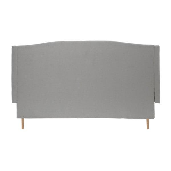 Svetlosivá posteľ VIVONITA Windsor 140x200cm, svetlé nohy