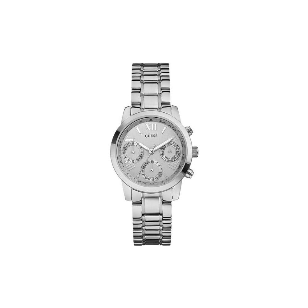 Dámske hodinky v striebornej farbe s antikoro remienkom Guess W0448L1