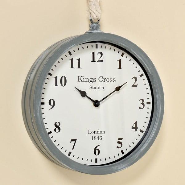 Nástenné hodiny Devon Grey, 26 cm