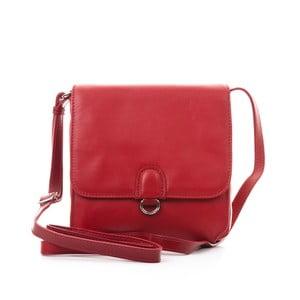 Červená kožená kabelka Gianni Conti Lora