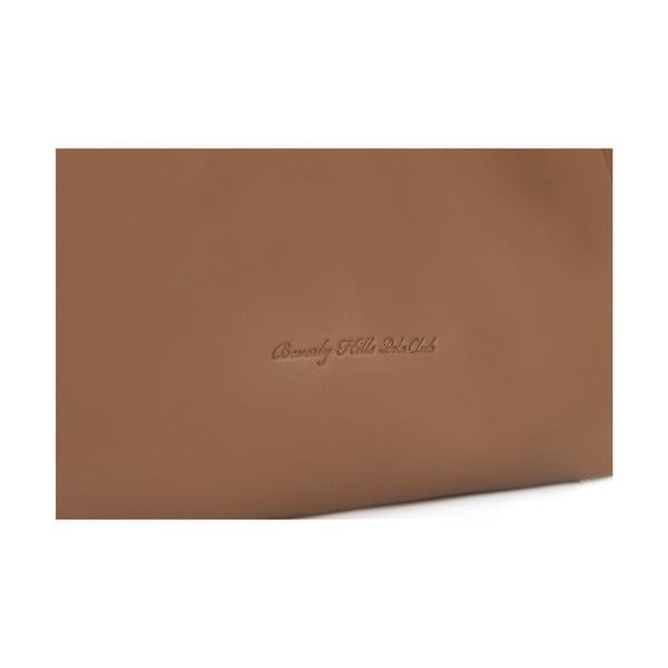 Hnedá kožená kabelka Beverly Hills Polo Club Eliana