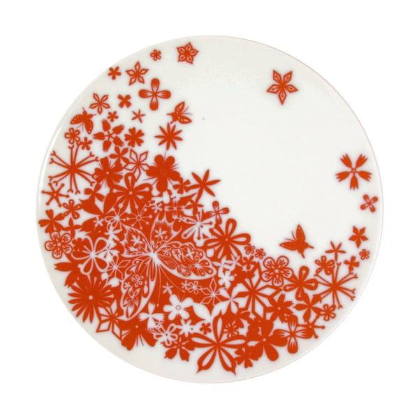 Sada 2 servírovacích tanierov Butterfly Red