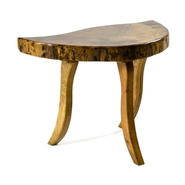 Ručne vyrobený 2dielny odkladací stolík z orechového masívu Carmen