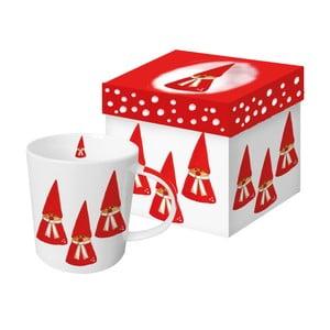 Porcelánový hrnček s vianočným motívom v darčekovom balení PPD Anneko Gnomes, 350 ml