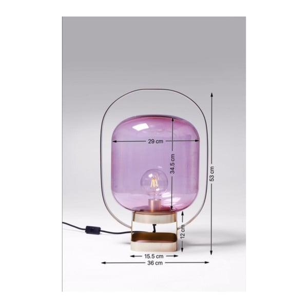 Ružová stolová lampa Kare Design Jupiter