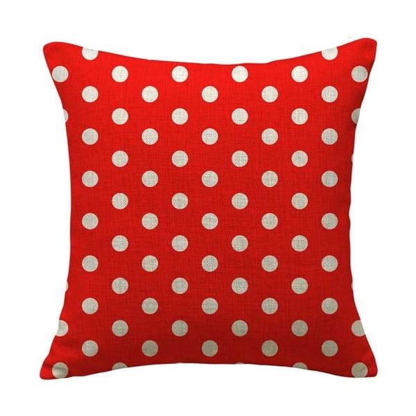 Obliečka na vankúš Dot Red, 45x45 cm