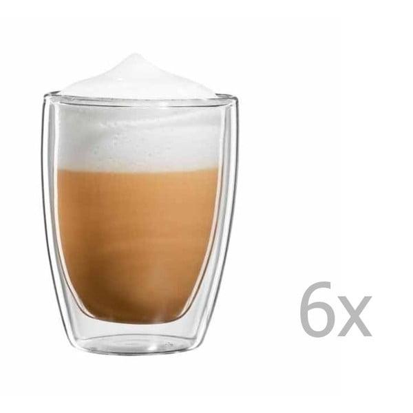 Sada 6 hrnčekov na cappuccino bloomix Roma