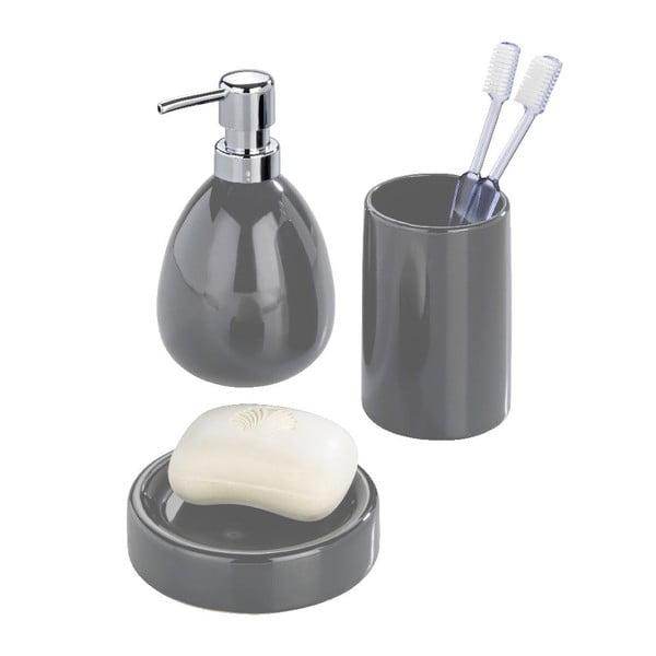 Sivý dávkovač na mydlo Wenko Polaris