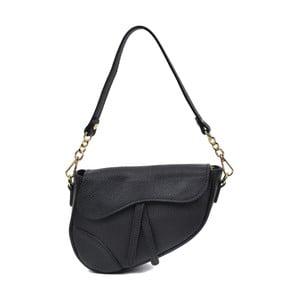 Čierna kožená kabelka Anna Luchini Hunssalo