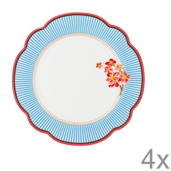 Porcelánový tanierik Seaside od Lisbeth Dahl, 19 cm, 4 ks