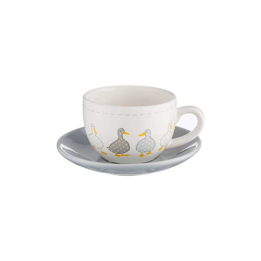 Hrnček s tanierikom z porcelánu Price & Kensington Madison, 250 ml