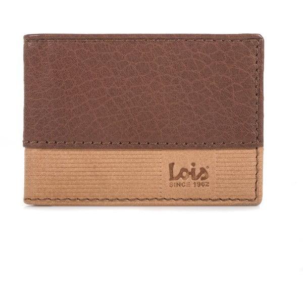 Kožená peňaženka Lois Double Brown, 11x7,5 cm