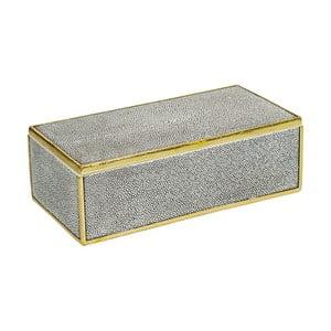 Sivý úložný box s detailmi v zlatej farbe Santiago Pons Pearl
