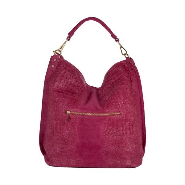 Ružová kabelka z pravej kože Andrea Cardone Edvige