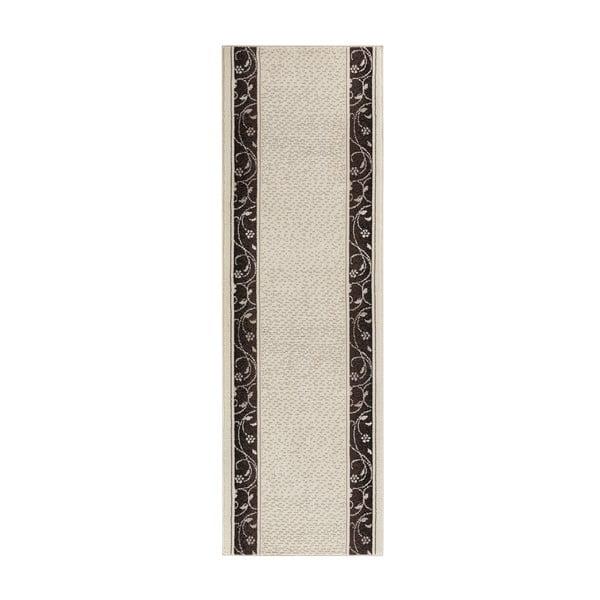 Krémový behúň s hnedými detailmi Hanse Home Elegance, 80×300 cm