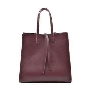 Vínovo červená kožená kabelka Mangotti Vera