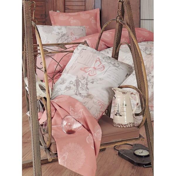 Béžové obliečky s plachtou Love Colors Halen, 200 x 220 cm