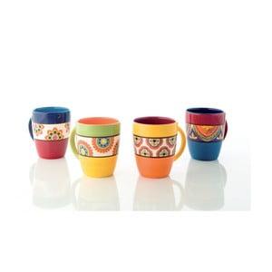 Sada 4 farebných keramických hrnčekov Brandani
