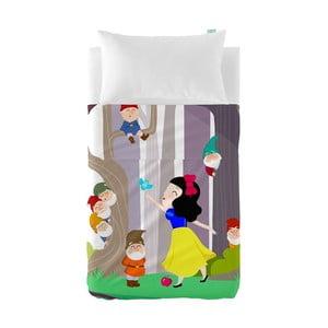 Detská obliečka na vankúš a prikrývka Mr. Fox Snow White, 100×130cm