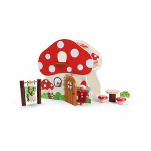 Drevený domček na hranie Legler Mushroom House