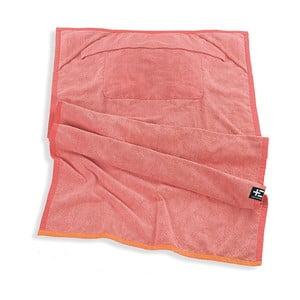 Ružová plážová osuška srohovýmivreckami Terra Nation One Moe, 90x180cm