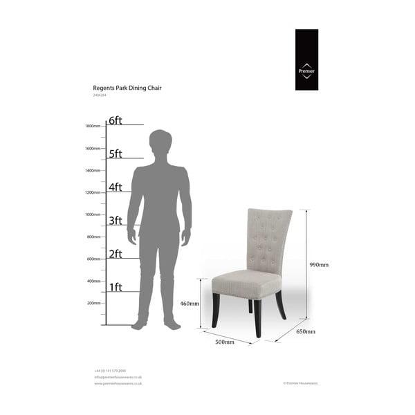 Jedálenská stolička Regents Park, biela