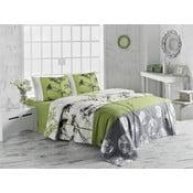 Ľahký bavlnený pléd cez posteľ na dvojlôžko Belezza Green, 200 x 230 cm