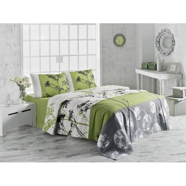 Prikrývka na posteľ Belezza Green, 160x230 cm
