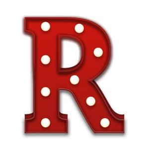 Dekoratívne svetlo Carnival R, červené