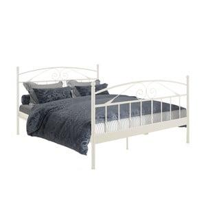 Biela dvojložková posteľ Støraa Bibi, 180×200cm