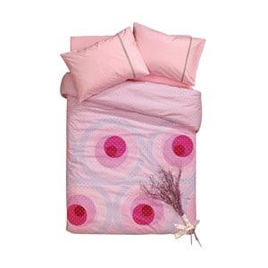 Sada obliečok a plachty Roses Pinky, 200x220 cm