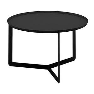 Čierny príručný stolík MEME Design Round, Ø 60 cm
