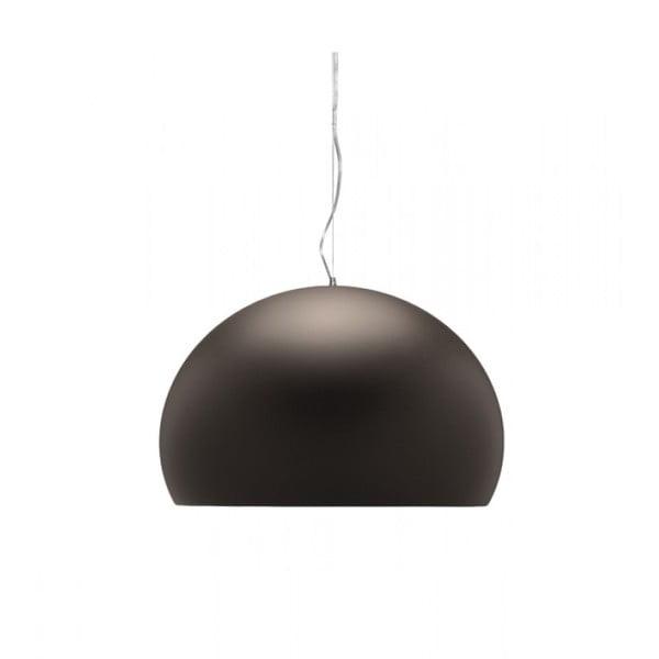Menšie hnedé stropné svietidlo Kartell Fly