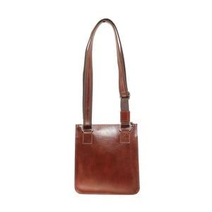 Hnedá kožená kabelka Chicca Borse Libby