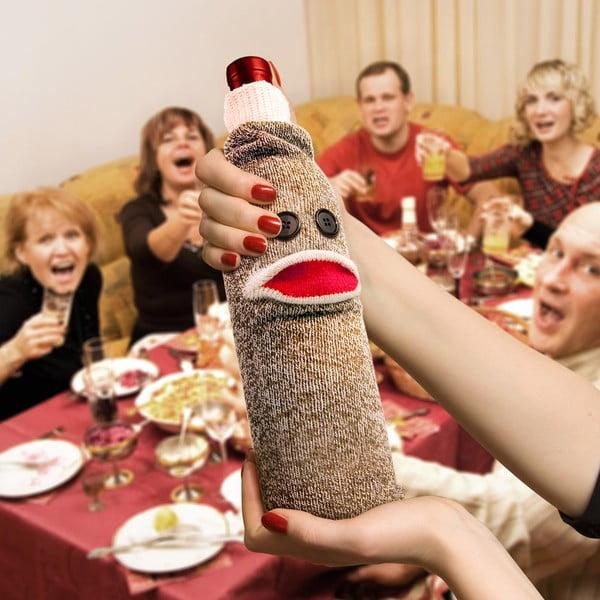 Ponožka na vínnu fľašu Fred & Friends Wine Monkey