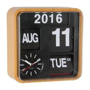 Hnedé hodiny Present Time Mini Flip