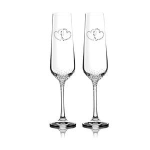 Sada 2 pohárov na šampanské Prema so Swarovski Elements v luxusnom balení