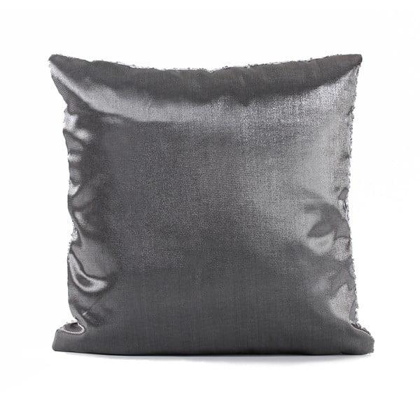 Flitrovaný vankúš Shiny Grey, 43x43 cm