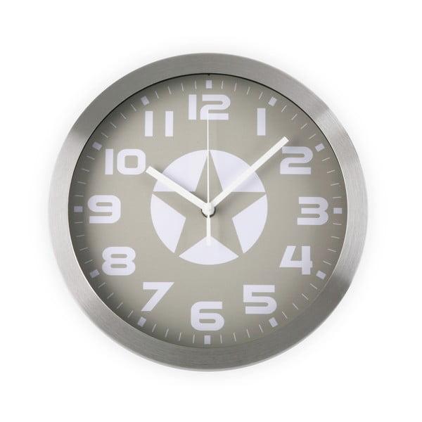Nástenné hodiny White & Grey Star